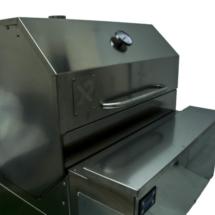 nuovo sistema di cottura, in un unico prodotto hai un affumicatore barbecue per cotture lente o veloci, cottura indiretta.